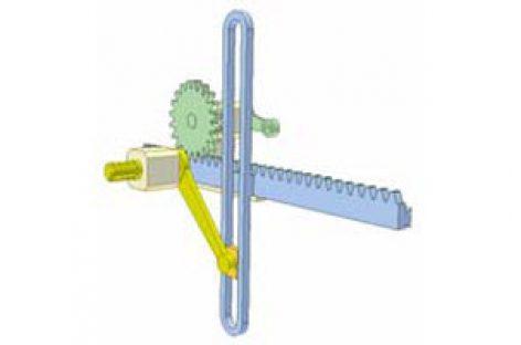 [Mô phỏng cơ cấu cơ khí] Cơ cấu sin và bộ truyền bánh răng thanh răng