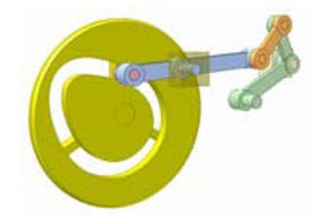 [Mô phỏng cơ cấu cơ khí] Cơ cấu cam tạo góc lắc lớn nhờ cơ cấu thanh