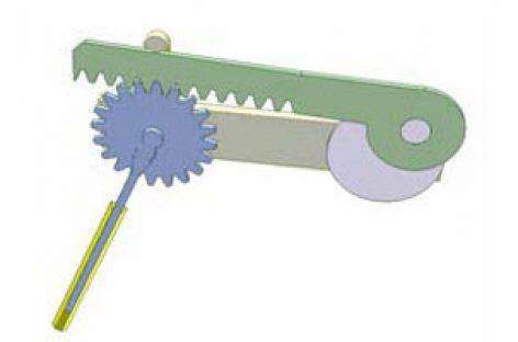 [Mô phỏng cơ cấu cơ khí] Truyền động bánh răng thanh răng 2