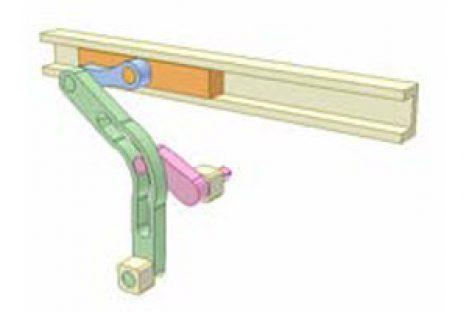 [Mô phỏng cơ cấu cơ khí] Cơ cấu cu lít rãnh cong