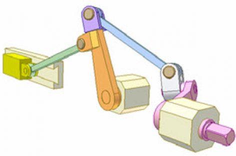 [Mô phỏng cơ cấu cơ khí] Cơ cấu tay quay con trượt đi lại đồng trục