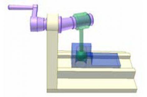 [Mô phỏng cơ cấu cơ khí] Cơ cấu tay quay con trượt không gian 3