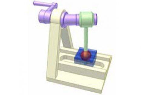 [Mô phỏng cơ cấu cơ khí] Cơ cấu tay quay con trượt không gian 4