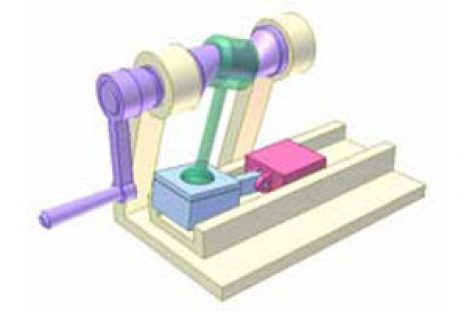 [Mô phỏng cơ cấu cơ khí] Cơ cấu tay quay con trượt không gian 5