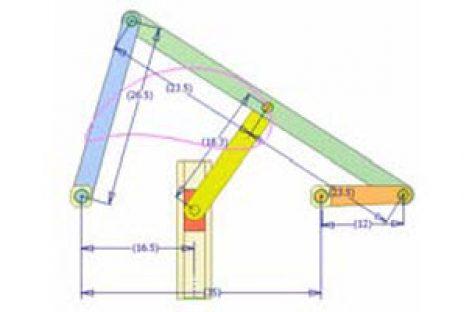 [Mô phỏng cơ cấu cơ khí] Cơ cấu thanh có con trượt dừng 1