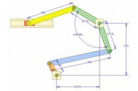 [Mô phỏng cơ cấu cơ khí] Cơ cấu thanh có con trượt dừng 4