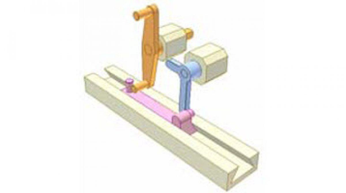 [Mô phỏng cơ cấu cơ khí] Cơ chế tay quay con trượt với khủyu đòn bẩy 2