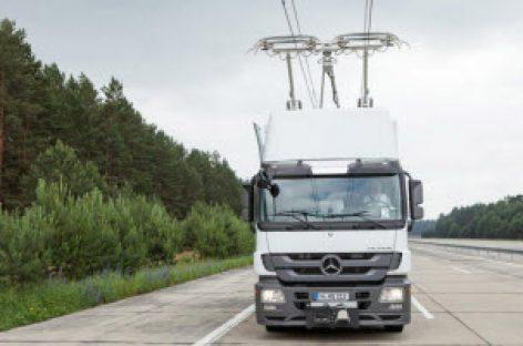 Đường cao tốc công nghệ cao eHighway của Siemens, giúp giảm lượng khí thải ra môi trường