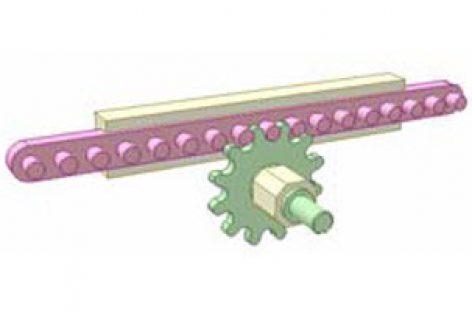 [Mô phỏng cơ cấu cơ khí] Bộ truyền bánh răng thanh chốt 1A