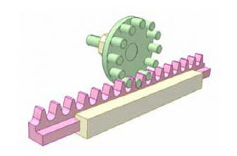 [Mô phỏng cơ cấu cơ khí] Bộ truyền bánh răng thanh chốt 1B