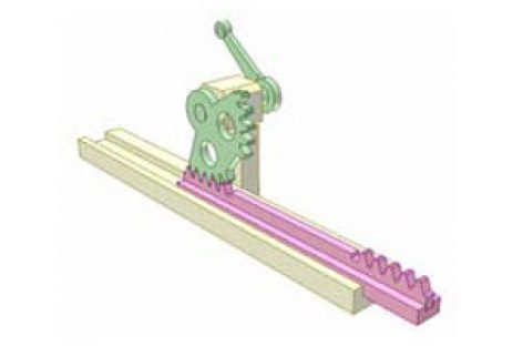 [Mô phỏng cơ cấu cơ khí] Bộ truyền bánh răng thanh răng 4a