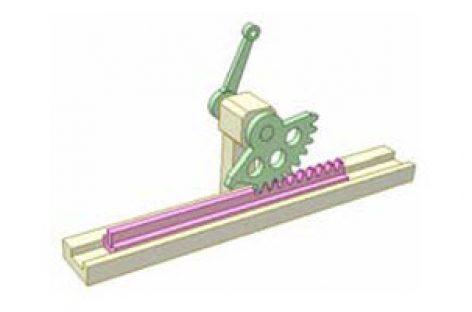 [Mô phỏng cơ cấu cơ khí] Bộ truyền bánh răng thanh răng 4b
