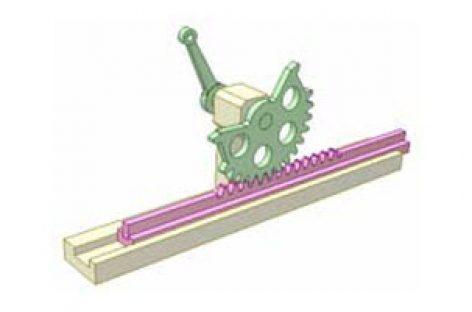 [Mô phỏng cơ cấu cơ khí] Bộ truyền bánh răng thanh răng 4c