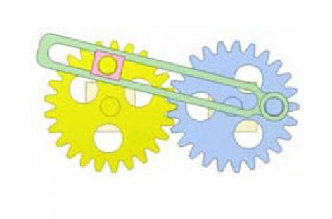 [Mô phỏng cơ cấu cơ khí] Bánh răng và cơ cấu thanh 8b