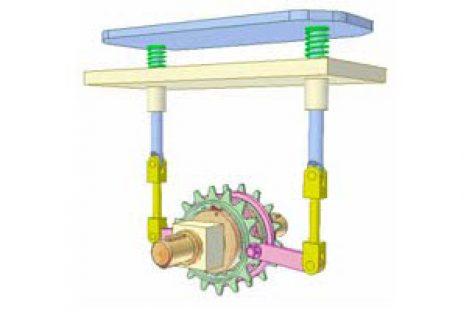 [Mô phỏng cơ cấu cơ khí] Biến chuyển động thẳng hai chiều thành một chiều 2