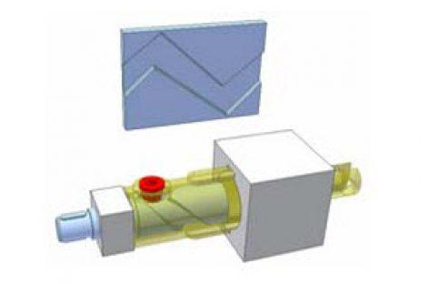 [Mô phỏng cơ cấu cơ khí] Biến chuyển động thẳng hai chiều thành một chiều 4