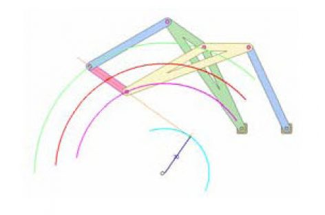 [Mô phỏng cơ cấu cơ khí] Cơ cấu bình hành kép 2