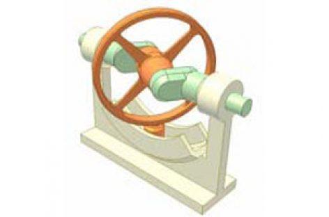 [Mô phỏng cơ cấu cơ khí] Cơ cấu đĩa đảo 1b