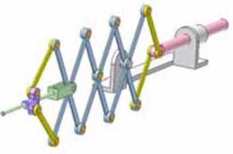 [Mô phỏng cơ cấu cơ khí] Cơ cấu kìm xếp 2