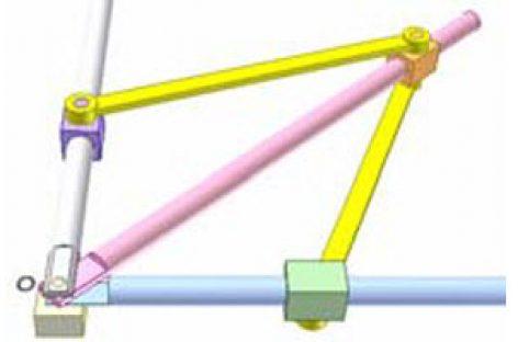 [Mô phỏng cơ cấu cơ khí] Cơ cấu thanh cho chuyển động thẳng 2