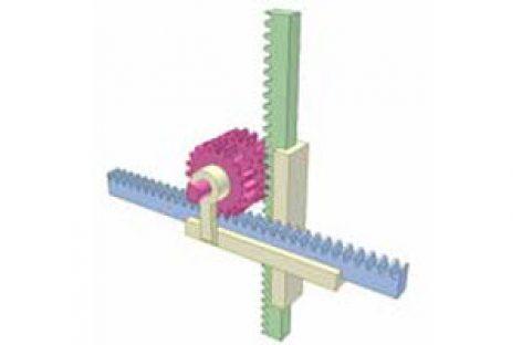 [Mô phỏng cơ cấu cơ khí] Truyền động bánh răng thanh răng 3