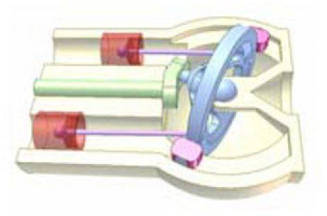 [Mô phỏng cơ cấu cơ khí] Ứng dụng cơ cấu đĩa đảo 2