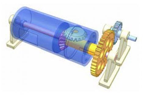[Mô phỏng cơ cấu cơ khí] Biến chuyển động quay thành chuyển động quay và chuyểnđộng thẳng đi lại 1