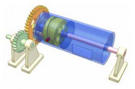 [Mô phỏng cơ cấu cơ khí] Biến chuyển động quay thành chuyển động quay và chuyểnđộng thẳng đi lại 3