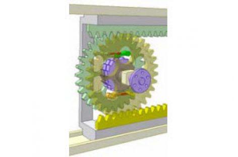 [Mô phỏng cơ cấu cơ khí] Biến chuyển động thẳng hai chiều thành một chiều 1