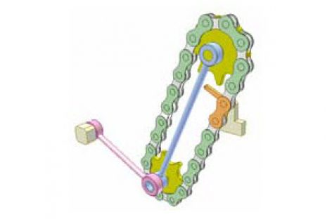 [Mô phỏng cơ cấu cơ khí] Bộ truyền xích 7B