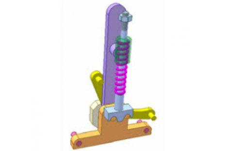 [Mô phỏng cơ cấu cơ khí] Cơ cấu chập có lò xo 2