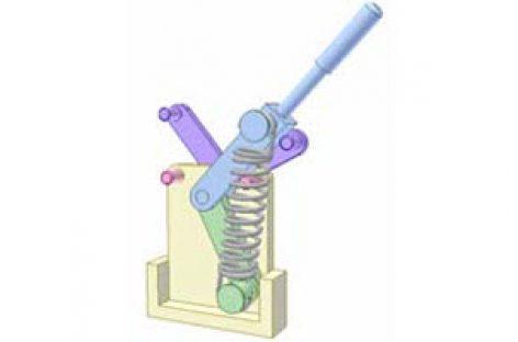 [Mô phỏng cơ cấu cơ khí] Cơ cấu chập có lò xo 4