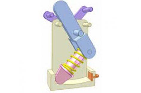 [Mô phỏng cơ cấu cơ khí] Cơ cấu chập có lò xo 5