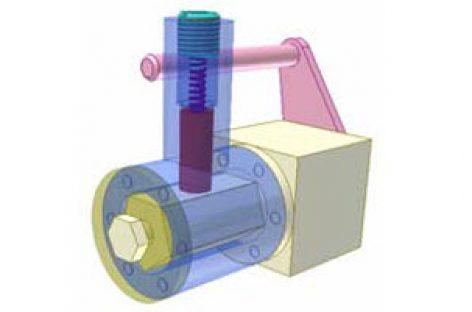 [Mô phỏng cơ cấu cơ khí] Cơ cấu chập có lò xo 6a