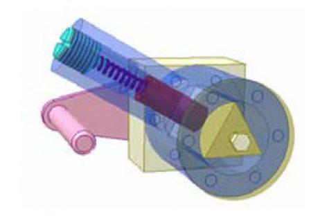 [Mô phỏng cơ cấu cơ khí] Cơ cấu chập có lò xo 6b