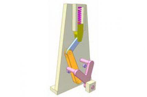 [Mô phỏng cơ cấu cơ khí] Cơ cấu chập có lò xo 8