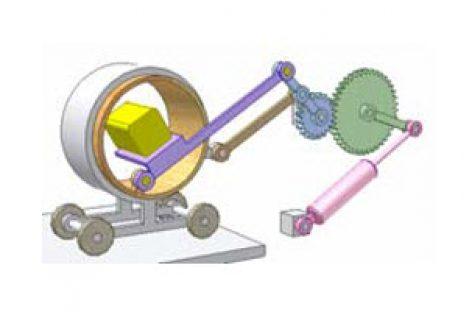 [Mô phỏng cơ cấu cơ khí] Cơ cấu di chuyển vật trong lò