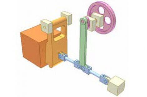 [Mô phỏng cơ cấu cơ khí] Cơ cấu thanh thẳng hàng 1a