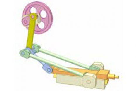 [Mô phỏng cơ cấu cơ khí] Cơ cấu thanh thẳng hàng 1b
