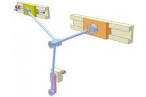 [Mô phỏng cơ cấu cơ khí] Cơ cấu thanh thẳng hàng 2