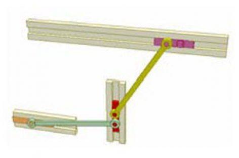 [Mô phỏng cơ cấu cơ khí] Cơ cấu thanh thẳng hàng 3