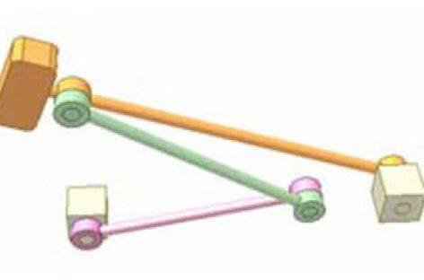 [Mô phỏng cơ cấu cơ khí] Cơ cấu thanh thẳng hàng 4b