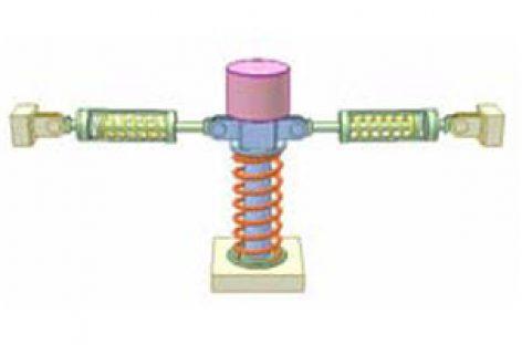 [Mô phỏng cơ cấu cơ khí] Cách rung bằng lò xo 2