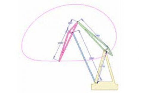 [Mô phỏng cơ cấu cơ khí] Cần trục cơ cấu 4 khâu