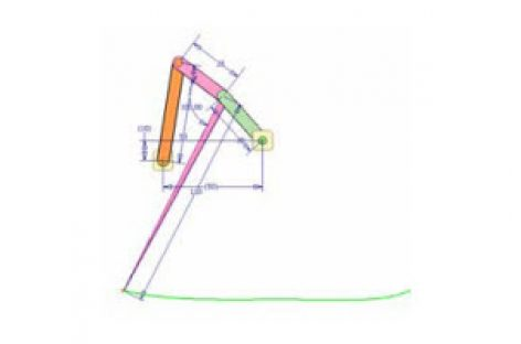 [Mô phỏng cơ cấu cơ khí] Cơ cấu 4 khâu 6