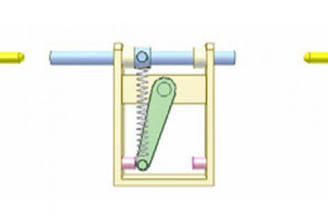 [Mô phỏng cơ cấu cơ khí] Cơ cấu chập có lò xo 10