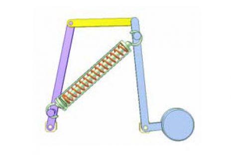 [Mô phỏng cơ cấu cơ khí] Dao động do lò xo 3