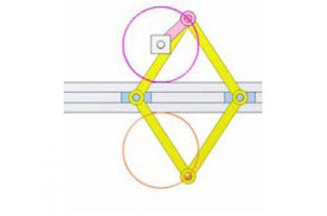 [Mô phỏng cơ cấu cơ khí] Cơ cấu vẽ đường tròn 4