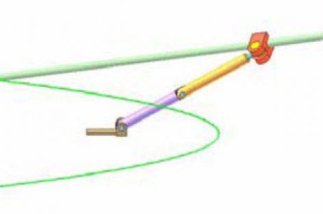 [Mô phỏng cơ cấu cơ khí] Conic section compass 2