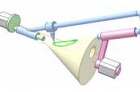 [Mô phỏng cơ cấu cơ khí] Cơ cấu vẽ giao tuyến hình côn và hình trụ 1